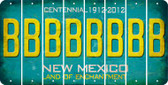 New Mexico B Cut License Plate Strips (Set of 8) LPS-NM1-002
