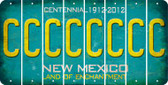 New Mexico C Cut License Plate Strips (Set of 8) LPS-NM1-003