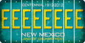 New Mexico E Cut License Plate Strips (Set of 8) LPS-NM1-005