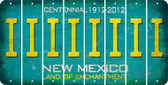 New Mexico I Cut License Plate Strips (Set of 8) LPS-NM1-009