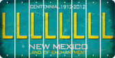 New Mexico L Cut License Plate Strips (Set of 8) LPS-NM1-012