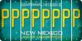 New Mexico P Cut License Plate Strips (Set of 8) LPS-NM1-016