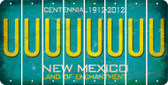 New Mexico U Cut License Plate Strips (Set of 8) LPS-NM1-021