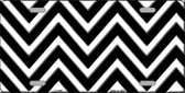 Black White Chevron Wholesale Metal Novelty License Plate LP-4467