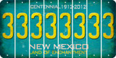 New Mexico 3 Cut License Plate Strips (Set of 8) LPS-NM1-030