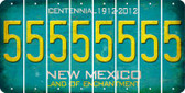 New Mexico 5 Cut License Plate Strips (Set of 8) LPS-NM1-032