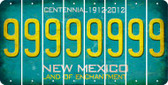 New Mexico 9 Cut License Plate Strips (Set of 8) LPS-NM1-036