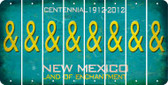 New Mexico AMPERSAND Cut License Plate Strips (Set of 8) LPS-NM1-049