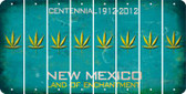 New Mexico POT LEAF Cut License Plate Strips (Set of 8) LPS-NM1-090