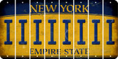 New York I Cut License Plate Strips (Set of 8) LPS-NY1-009