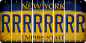 New York R Cut License Plate Strips (Set of 8) LPS-NY1-018
