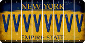 New York V Cut License Plate Strips (Set of 8) LPS-NY1-022