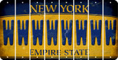 New York W Cut License Plate Strips (Set of 8) LPS-NY1-023