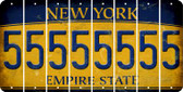 New York 5 Cut License Plate Strips (Set of 8) LPS-NY1-032