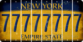 New York 7 Cut License Plate Strips (Set of 8) LPS-NY1-034