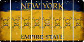 New York SKULL Cut License Plate Strips (Set of 8) LPS-NY1-092