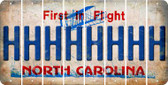 North Carolina H Cut License Plate Strips (Set of 8) LPS-NC1-008