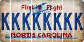 North Carolina K Cut License Plate Strips (Set of 8) LPS-NC1-011