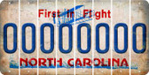 North Carolina O Cut License Plate Strips (Set of 8) LPS-NC1-015