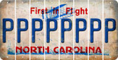 North Carolina P Cut License Plate Strips (Set of 8) LPS-NC1-016