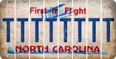 North Carolina T Cut License Plate Strips (Set of 8) LPS-NC1-020