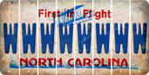 North Carolina W Cut License Plate Strips (Set of 8) LPS-NC1-023