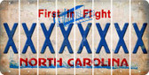 North Carolina X Cut License Plate Strips (Set of 8) LPS-NC1-024