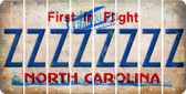 North Carolina Z Cut License Plate Strips (Set of 8) LPS-NC1-026