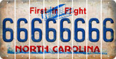 North Carolina 6 Cut License Plate Strips (Set of 8) LPS-NC1-033