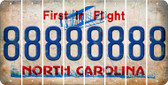 North Carolina 8 Cut License Plate Strips (Set of 8) LPS-NC1-035