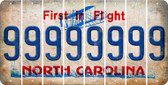North Carolina 9 Cut License Plate Strips (Set of 8) LPS-NC1-036