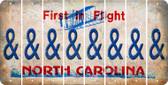 North Carolina AMPERSAND Cut License Plate Strips (Set of 8) LPS-NC1-049