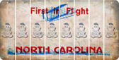 North Carolina BABY GIRL Cut License Plate Strips (Set of 8) LPS-NC1-067