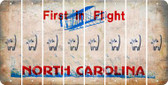 North Carolina CAT Cut License Plate Strips (Set of 8) LPS-NC1-072