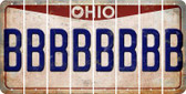 Ohio B Cut License Plate Strips (Set of 8) LPS-OH1-002