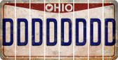 Ohio D Cut License Plate Strips (Set of 8) LPS-OH1-004