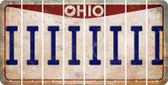 Ohio I Cut License Plate Strips (Set of 8) LPS-OH1-009
