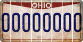 Ohio O Cut License Plate Strips (Set of 8) LPS-OH1-015
