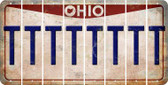 Ohio T Cut License Plate Strips (Set of 8) LPS-OH1-020