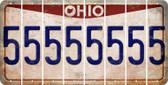 Ohio 5 Cut License Plate Strips (Set of 8) LPS-OH1-032