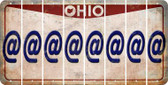 Ohio ASPERAND Cut License Plate Strips (Set of 8) LPS-OH1-039
