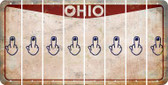 Ohio MIDDLE FINGER Cut License Plate Strips (Set of 8) LPS-OH1-091