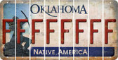Oklahoma F Cut License Plate Strips (Set of 8) LPS-OK1-006