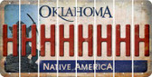 Oklahoma H Cut License Plate Strips (Set of 8) LPS-OK1-008