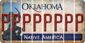 Oklahoma P Cut License Plate Strips (Set of 8) LPS-OK1-016