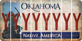 Oklahoma Y Cut License Plate Strips (Set of 8) LPS-OK1-025