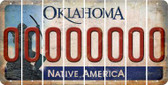 Oklahoma 0 Cut License Plate Strips (Set of 8) LPS-OK1-027