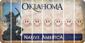 Oklahoma SMILEY FACE Cut License Plate Strips (Set of 8) LPS-OK1-089