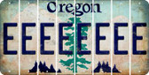 Oregon E Cut License Plate Strips (Set of 8) LPS-OR1-005