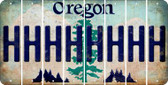 Oregon H Cut License Plate Strips (Set of 8) LPS-OR1-008